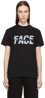 Facetasm Black Split Logo T-Shirt