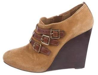 Tory Burch Suede Wedge Booties