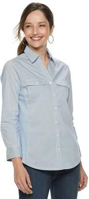 Croft & Barrow Women's Paisley Knit-to-Fit Shirt