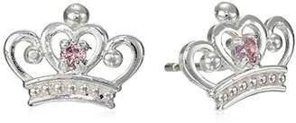 Disney Sterling Silver Crown Stud Earrings
