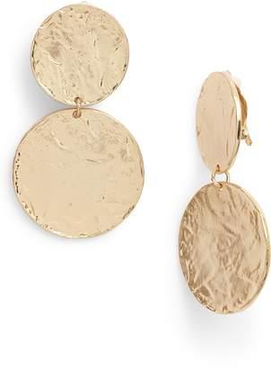 Karine Sultan Aimee Large Disc Clip Earrings