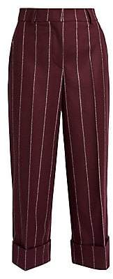 Thom Browne Women's Cropped Wool Striped Sack Trousers