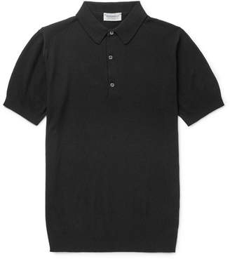 755a82bb John Smedley Roth Knitted Sea Island Cotton Polo Shirt