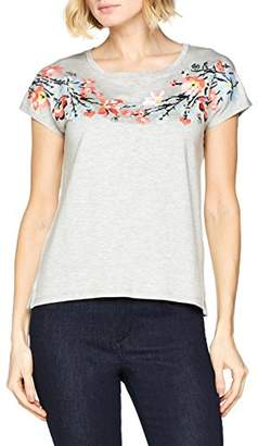 Gerry Weber Women's T-Shirt 1/2 Arm Regular Fit Short Sleeve T - Shirt,(Manufacturer Size: 36)