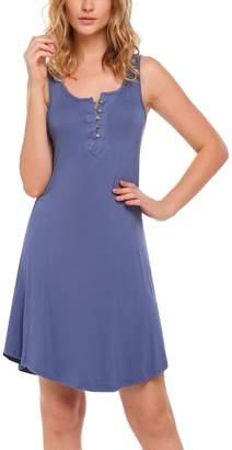Goldenfox Hospital Dress Breastfeeding Women Cotton Henley Pajamas for Lady (, XXL)
