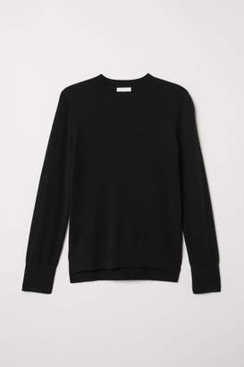 H&M Fine-knit Cashmere Sweater - Black