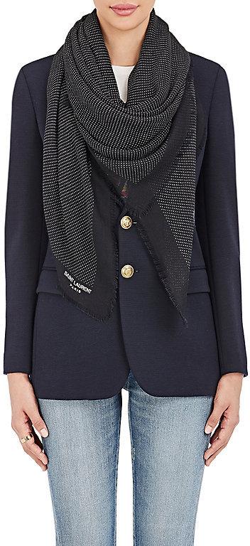 Saint LaurentSaint Laurent Women's Dotted Cashmere-Silk Scarf