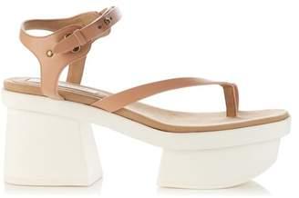 Stella McCartney Altea faux-leather block-heel platform sandals