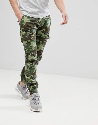 Replay Camo Cuffed Cargo Pants