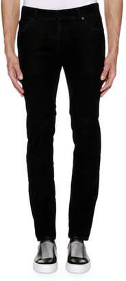 Just Cavalli Men's Solid Corduroy Straight-Leg Pants