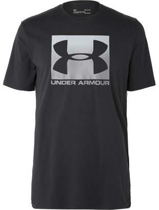 Under Armour Heatgear Printed Cotton-Blend Jersey T-Shirt