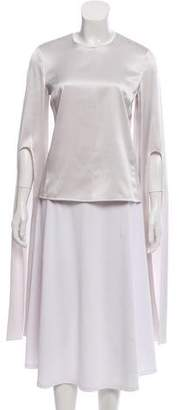 Narciso Rodriguez Silk Bell Sleeve Top
