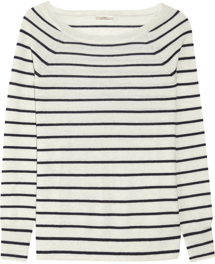 J.Crew Striped cashmere sweater