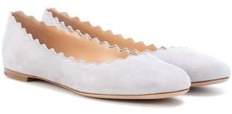 Chloé Lauren suede ballerina shoes