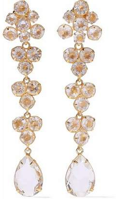 Bounkit Gold-Tone Quartz Earrings