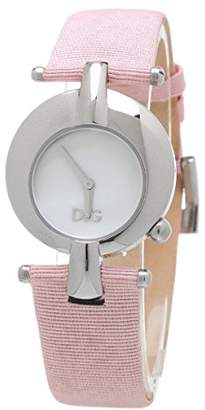 Dolce & Gabbana D G Dolce Gabbana &&Women's Quartz Watch with White Dial Analogue Display and Gold Leather DW0457