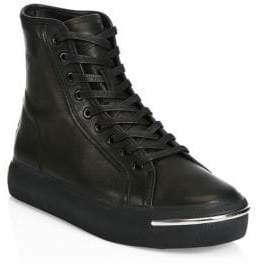 Alexander Wang Pia Leather Combat Boots