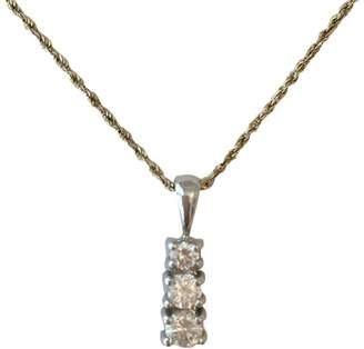 14K White Gold & .61 ctw Diamond Pendent Necklace
