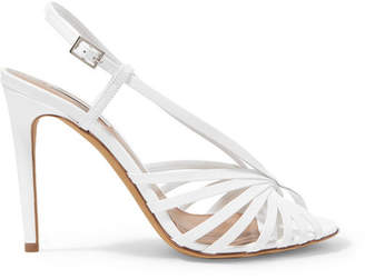 Tabitha Simmons Jazz Patent-leather Slingback Sandals