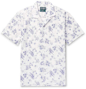 Gitman Brothers Camp-Collar Printed Cotton Shirt