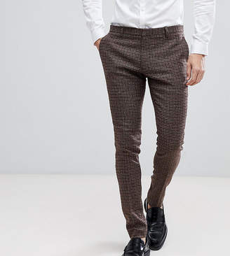 Heart N Dagger Super Skinny Suit Pants In Dogstooth Fleck