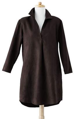 Mark And Graham Women's Faux Suede Tunic