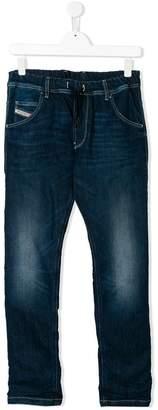 Diesel stonewashed drawstring jeans