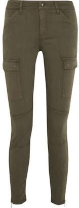 Splendid Hunter Stretch Modal-blend Twill Skinny Pants - Army green