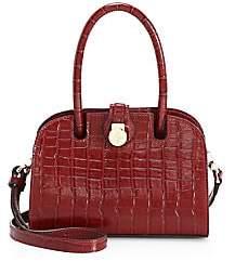 Ladybird Manu Atelier Women's Croco-Embossed Leather Handbag
