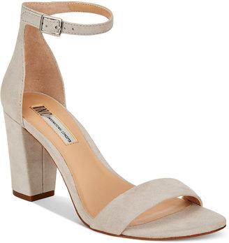 Inc International Concepts Kivah Block-Heel Dress Sandals, Only at Macy's Women's Shoes $89.50 thestylecure.com