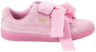 Rihanna X Puma Pink Suede Trainers