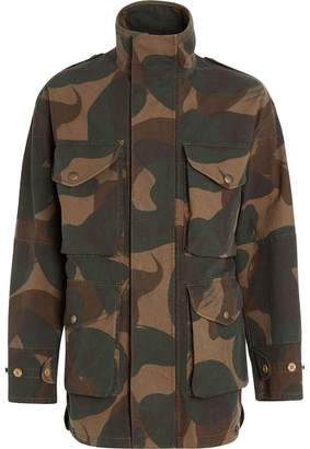 Burberry Camouflage Print Cotton Canvas Field Jacket