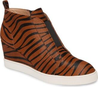 Linea Paolo Felicia III Genuine Calf Hair Wedge Sneaker
