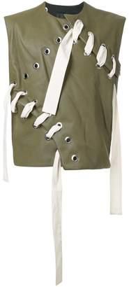 Craig Green leather stitch vest