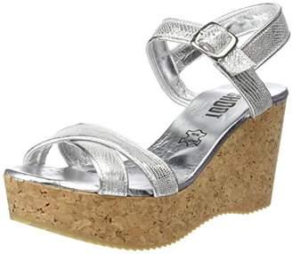 Shoot! SHOOT Women's Shoes SH-160030CC Damen Sommer Keil Sandalette Wedges Open Toe Sandals Silver Size: 7