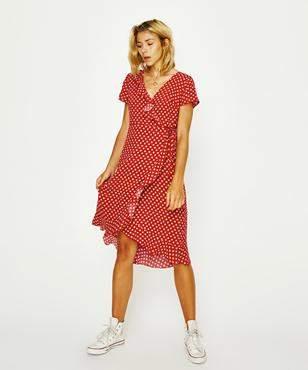 Don't Ask Amanda Ruffle Wrap Dress Sundots