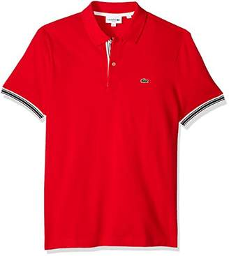 Lacoste Men's Short Sleeve Semi Fancy Petit Pique Slim Polo