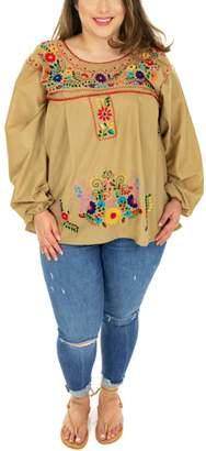 Flor Nativa Long-Sleeve Blouse