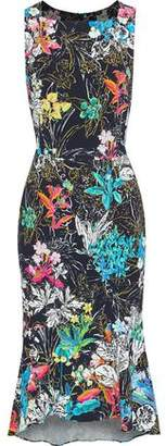 Peter Pilotto Floral-Print Stretch-Cady Midi Dress