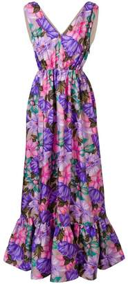 MSGM floral print long-length dress