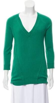Burberry Medium-Weight V-Neck Sweater