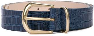 B-Low the Belt textured buckle belt