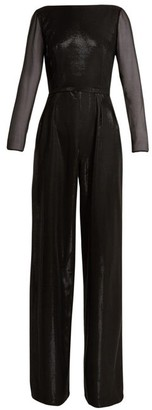 Azzaro Aria Lame Jumpsuit - Womens - Black