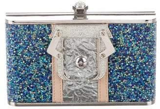 Paula Cademartori Crystal Embellished Cocca Box Clutch