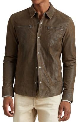 John Varvatos Star USA Leather Shirt Jacket $698 thestylecure.com