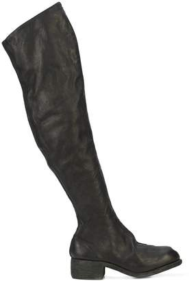 Guidi over-the-knee flat boot