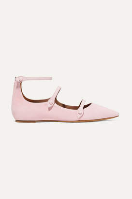 Tabitha Simmons Equipment Lynette Suede Point-toe Flats - Baby pink