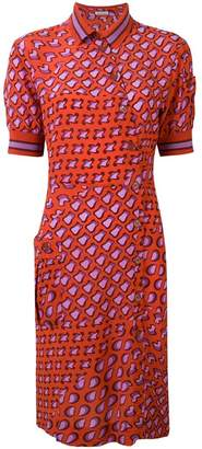 Tomas Maier printed asymmetric shirt dress