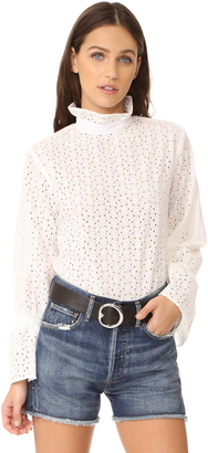 Clu Bell Sleeve Eyelet Shirt $183 thestylecure.com
