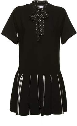 RED Valentino Striped Hem Dress